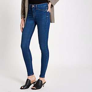 Molly – Jegging skinny bleu moyen taille standard