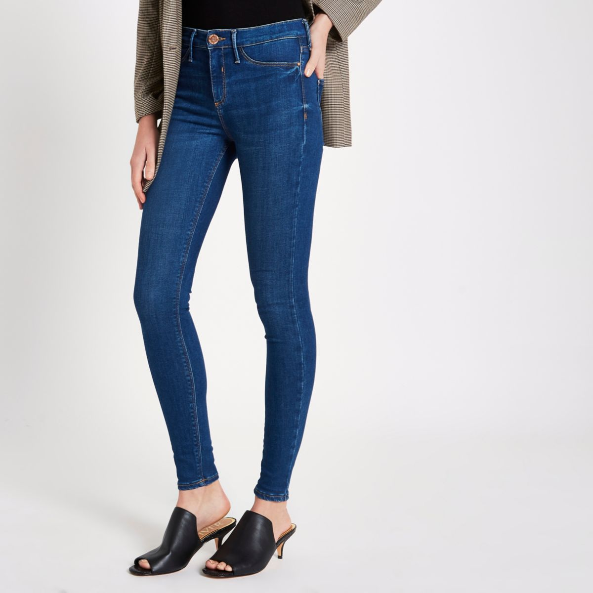 Mid blue Molly mid rise skinny jeggings