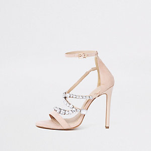 Barely There – Pinke Sandalen in weiter Passform