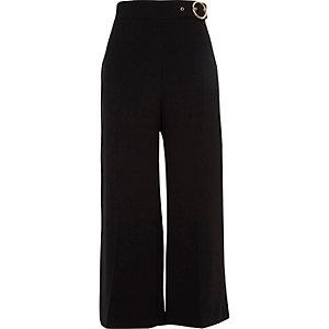 Jupe-culotte noire à boucle