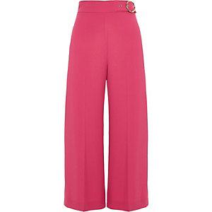 Jupe-culotte rose à boucle