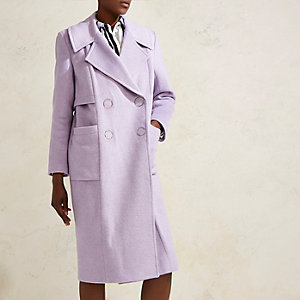 Lilac purple RI Studio oversized wool coat