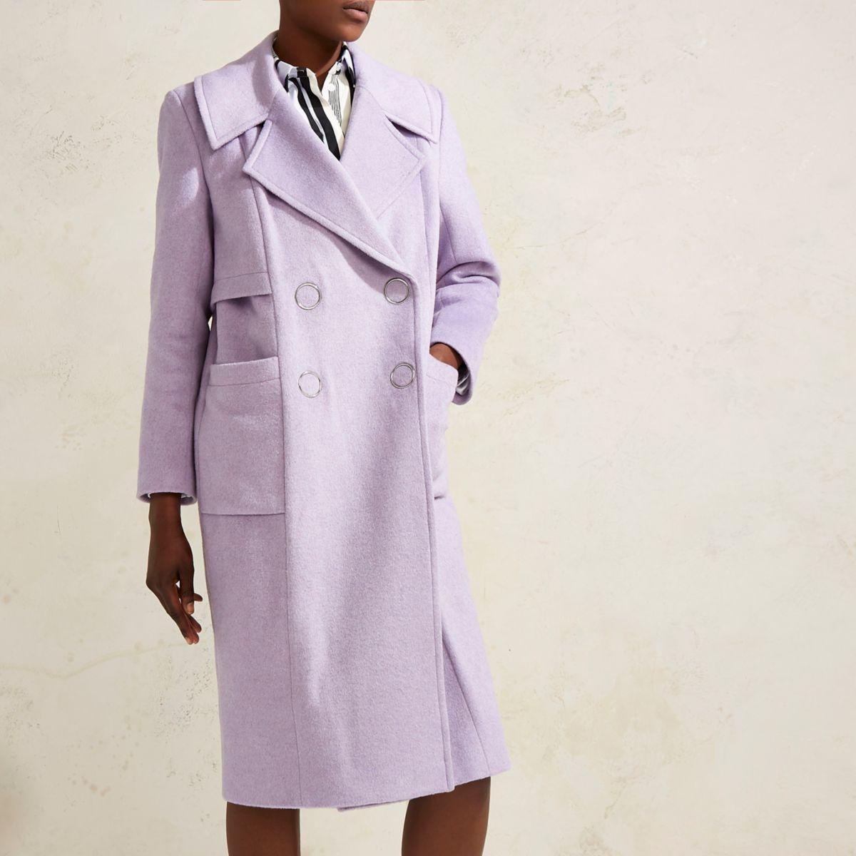 Lilac purple RI Studio oversized wool coat