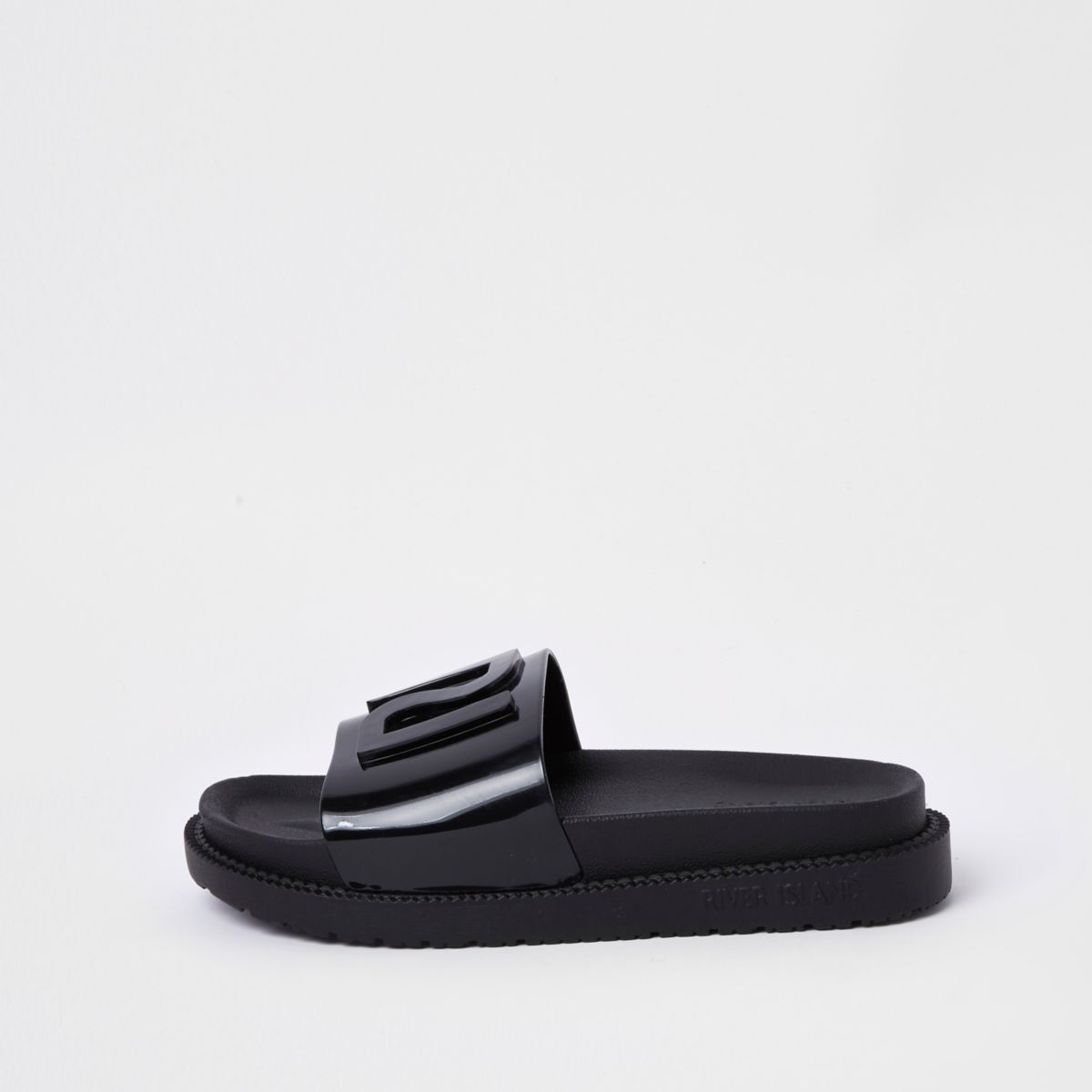 River Island Pool sliders - black 4VzILu