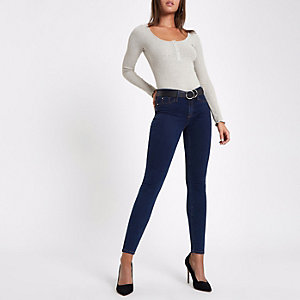 Dark blue Molly mid rise jegging