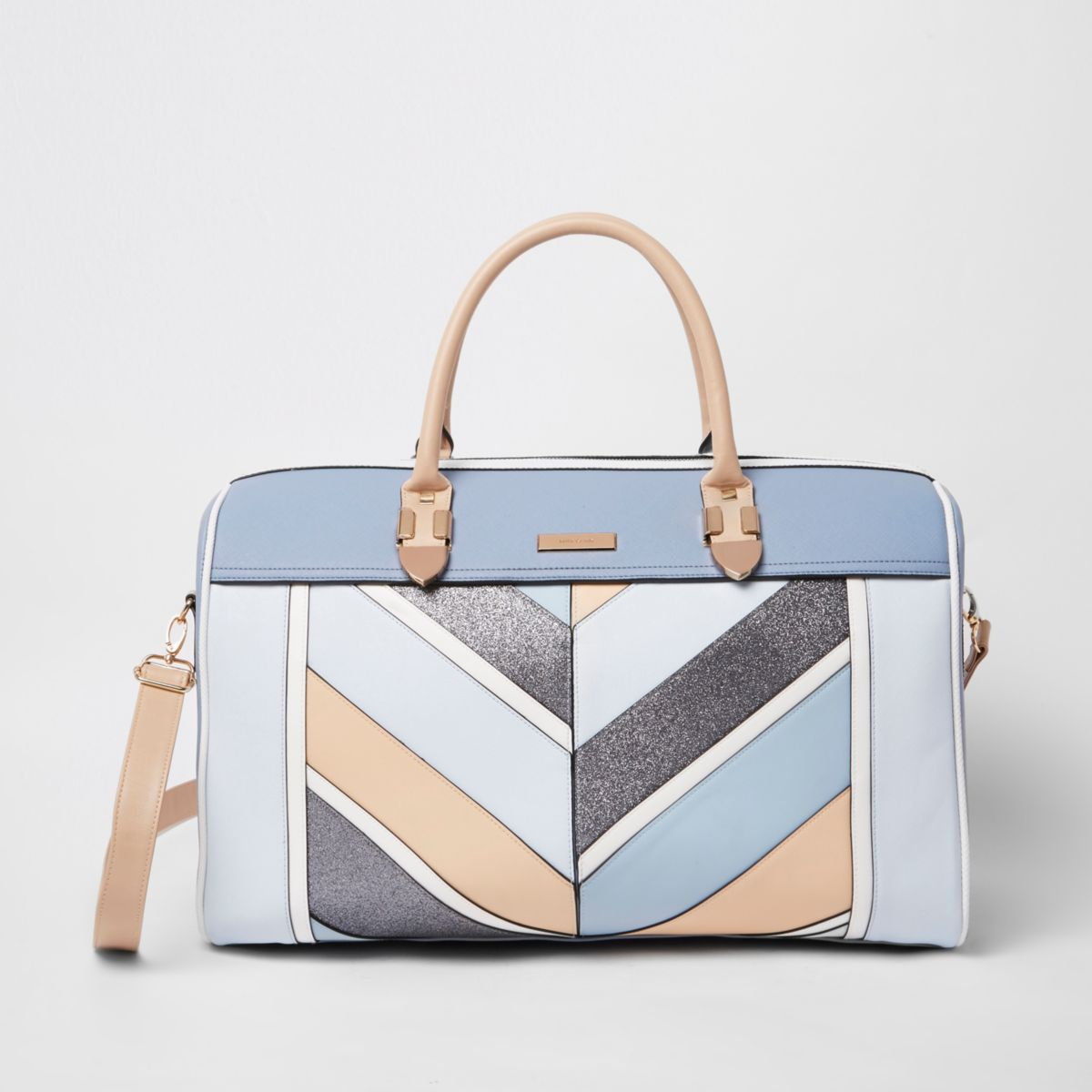 Blue stripe glitter cutabout holdall