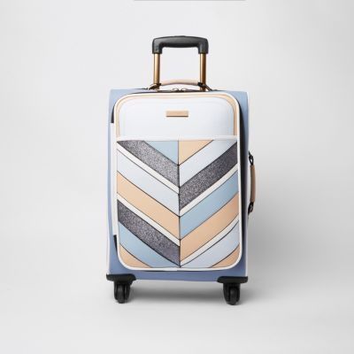 River Island Light Blue Suitcase