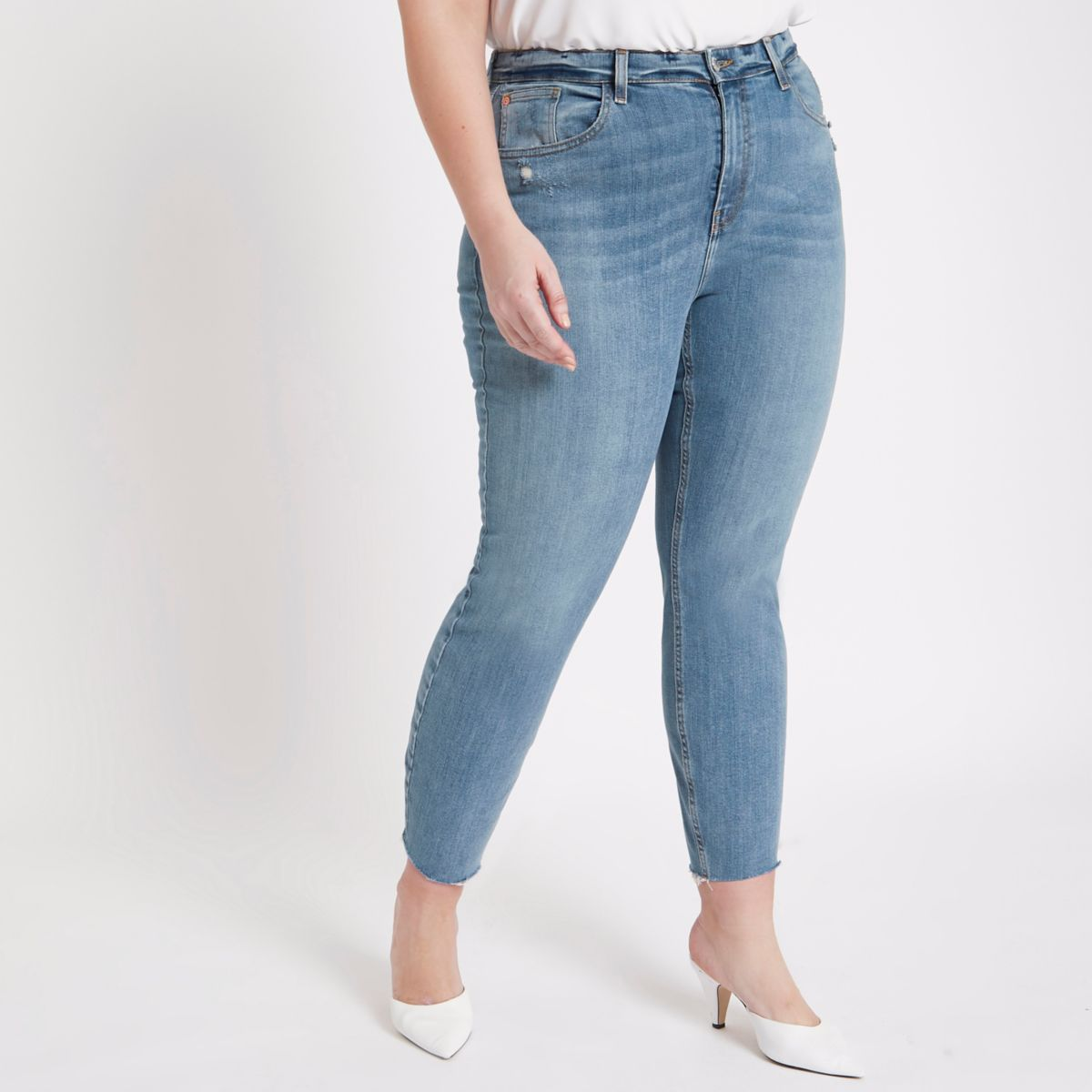 Plus blue wash Casey skinny fit jeans