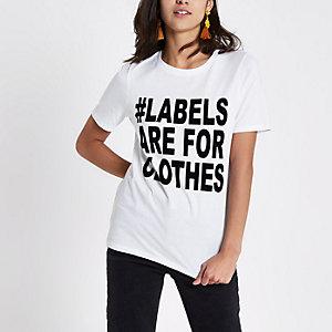 Ditch the Label charity – T-shirt ajusté blanc
