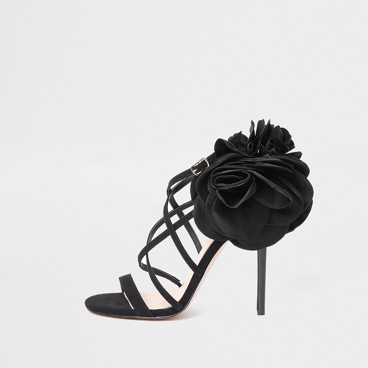 Schwarze Sandalen mit Stiletto-Absatz