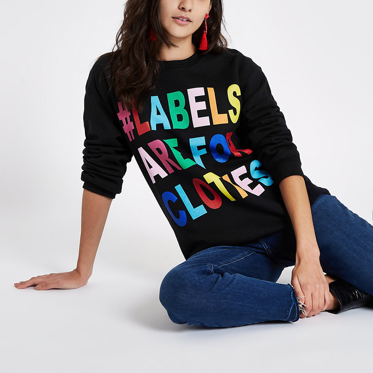 Ditch the Label charity - Zwart sweatshirt