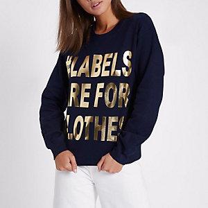Ditch the Label – Marineblaues Sweatshirt