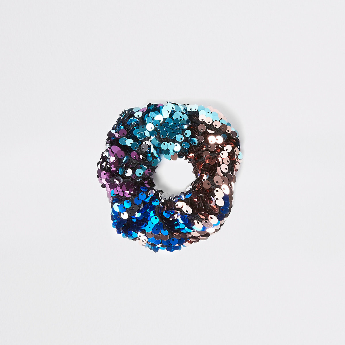 Multicolour sequin scrunchie