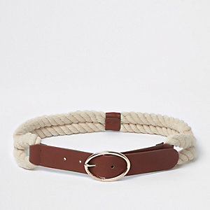 Tan rope waist belt