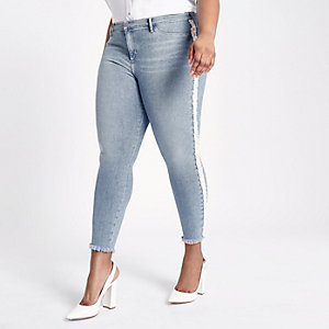 Plus – Molly – Jegging bleu orné de perles