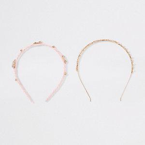 Pink rhinestone headband multipack