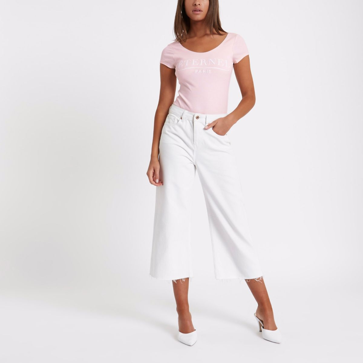 Light pink rib 'eternel' bodysuit