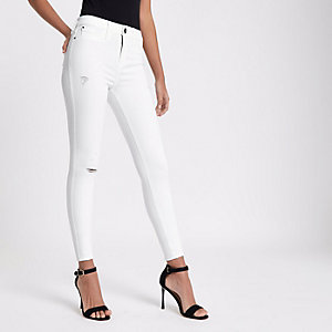FTBC charity – Molly – Jegging taille standard blanc