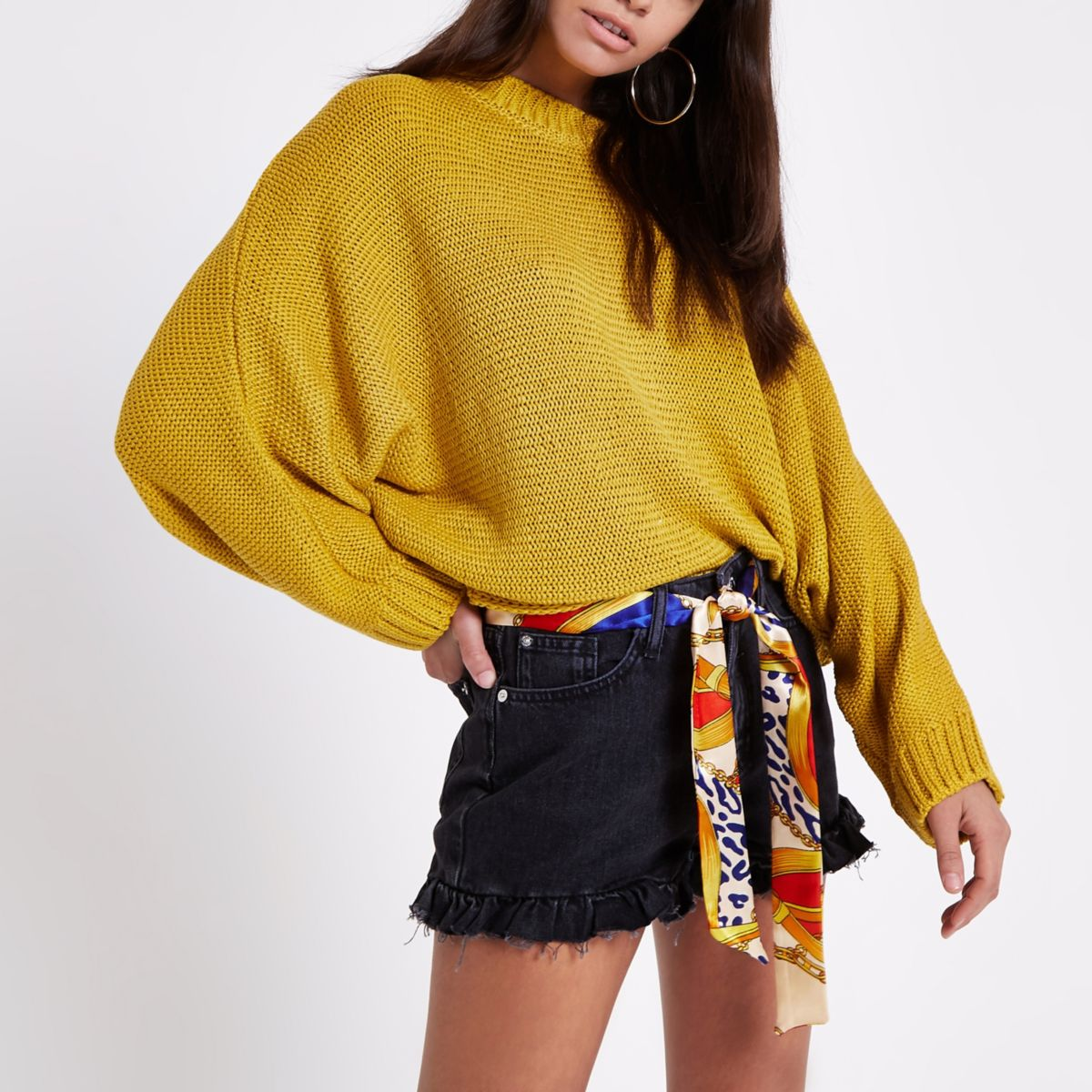 Yellow batwing jumper