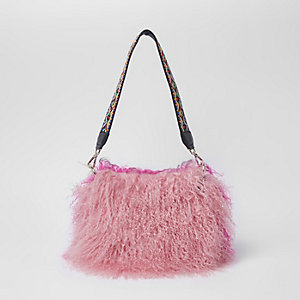 Pink Mongolian cross body bag