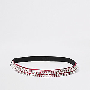 Red rhinestone embellished headband