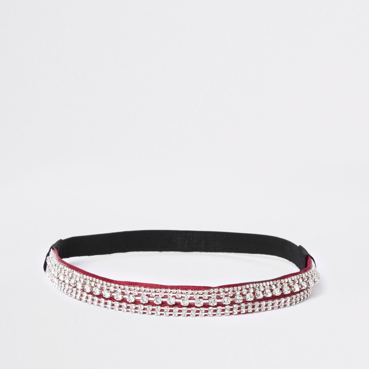 Red diamante embellished headband
