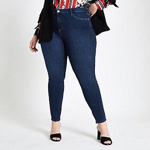 RI Plus - Molly - Donkerblauwe superskinny jegging