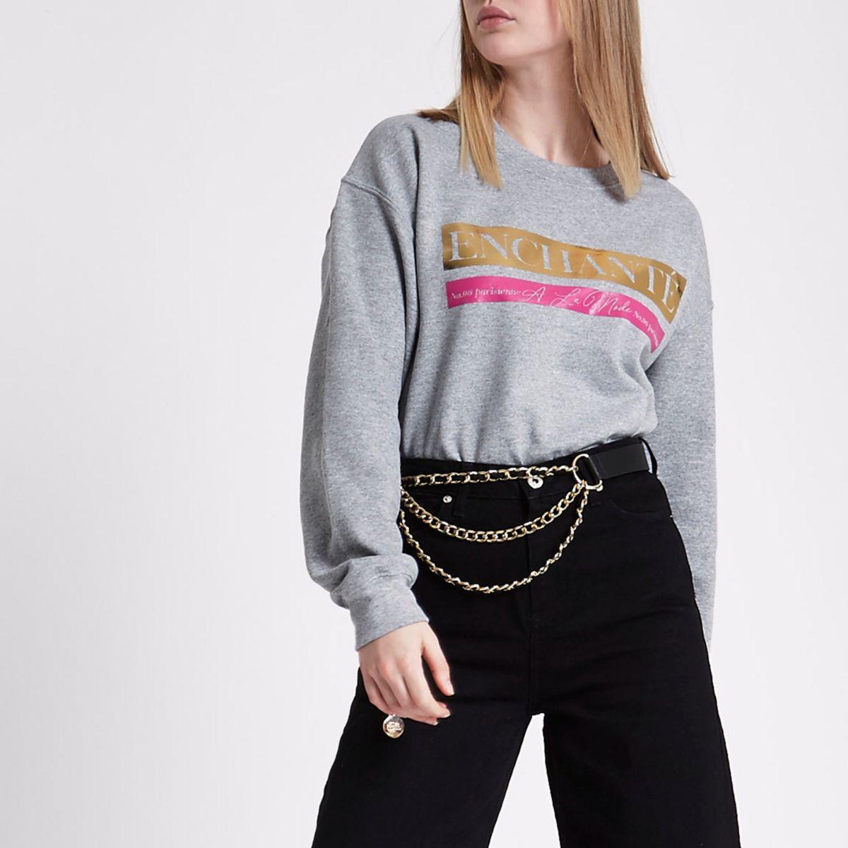 Grey 'enchante' sweatshirt
