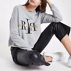 Grey RI branded long sleeve sweatshirt