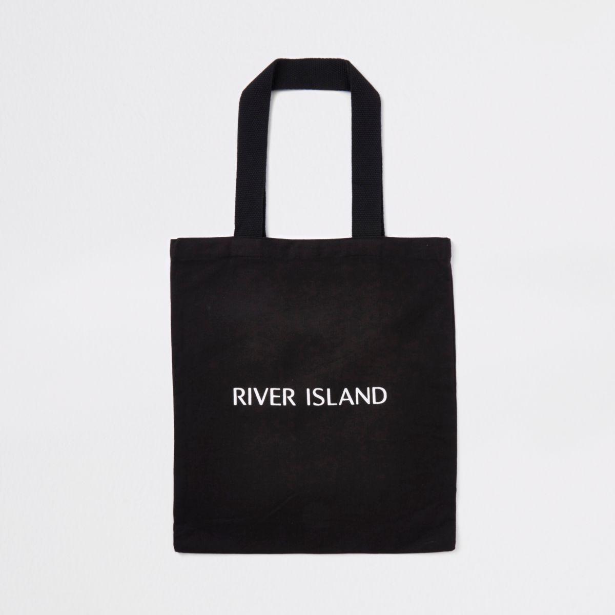 Black RI shopper tote bag