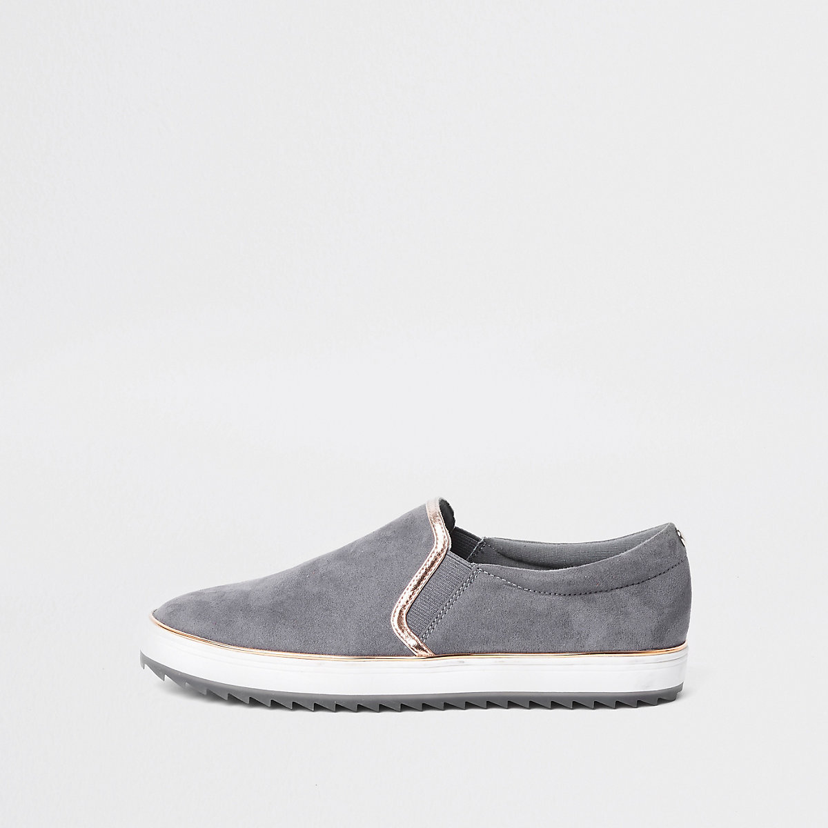 Grey slip on plimsolls