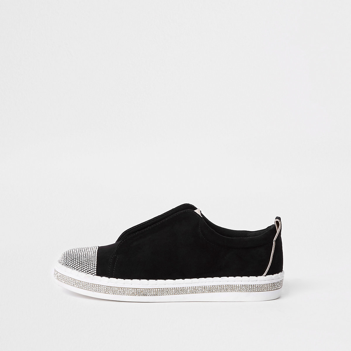 Zwarte sneakers met stras