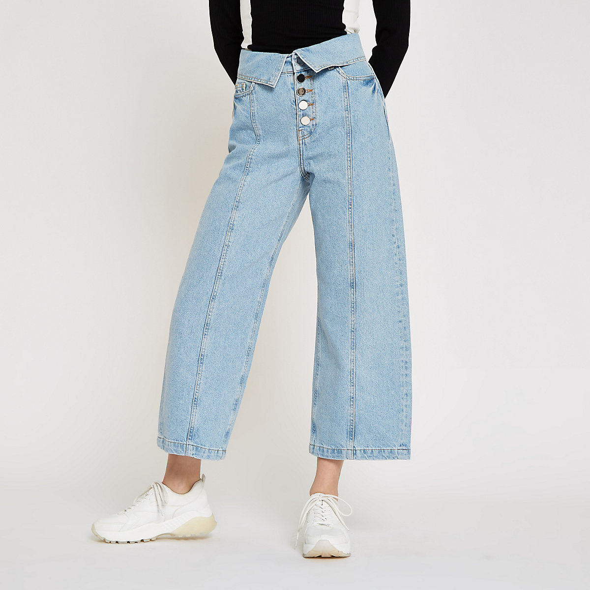 Light blue Alexa culotte jeans