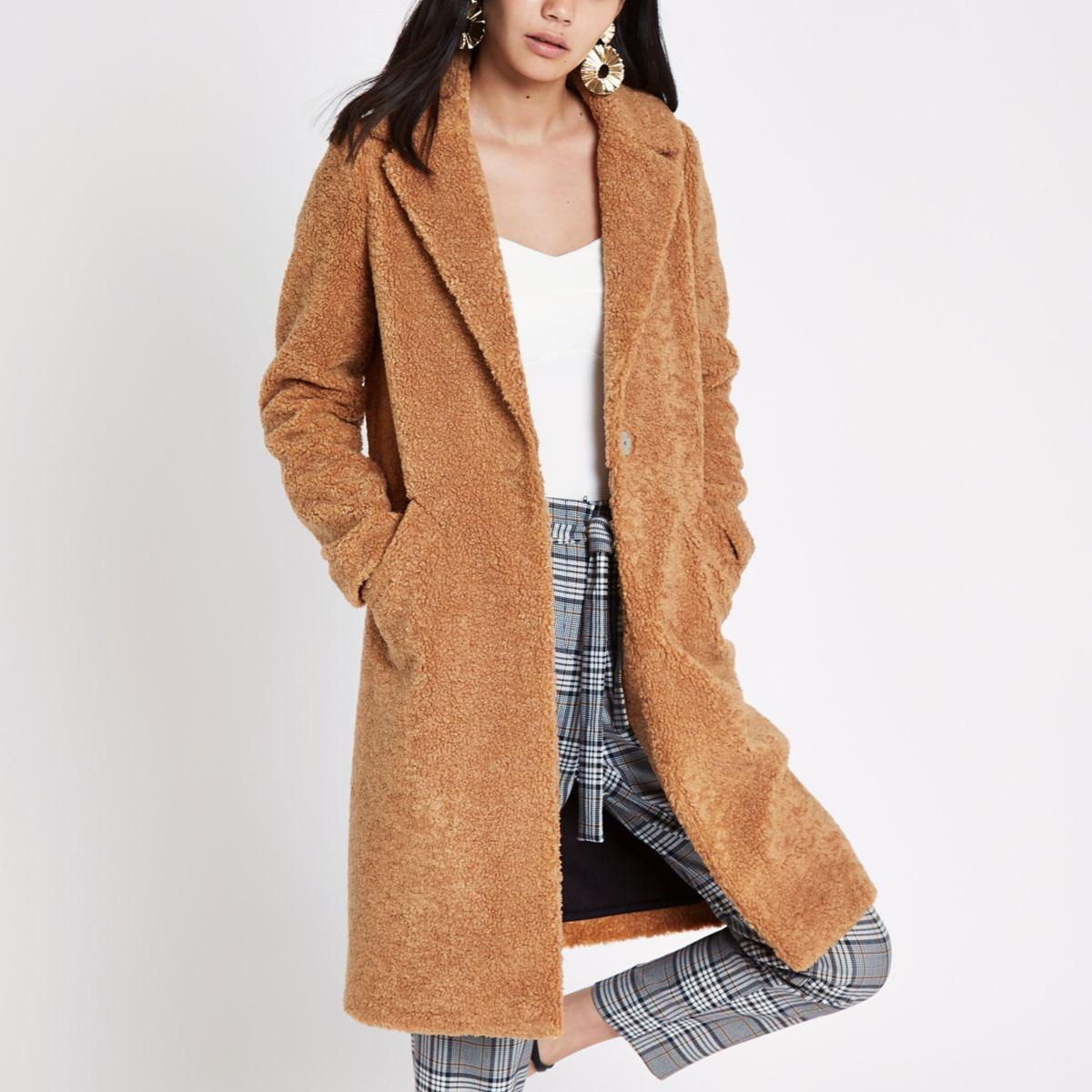 Light brown fleece coat