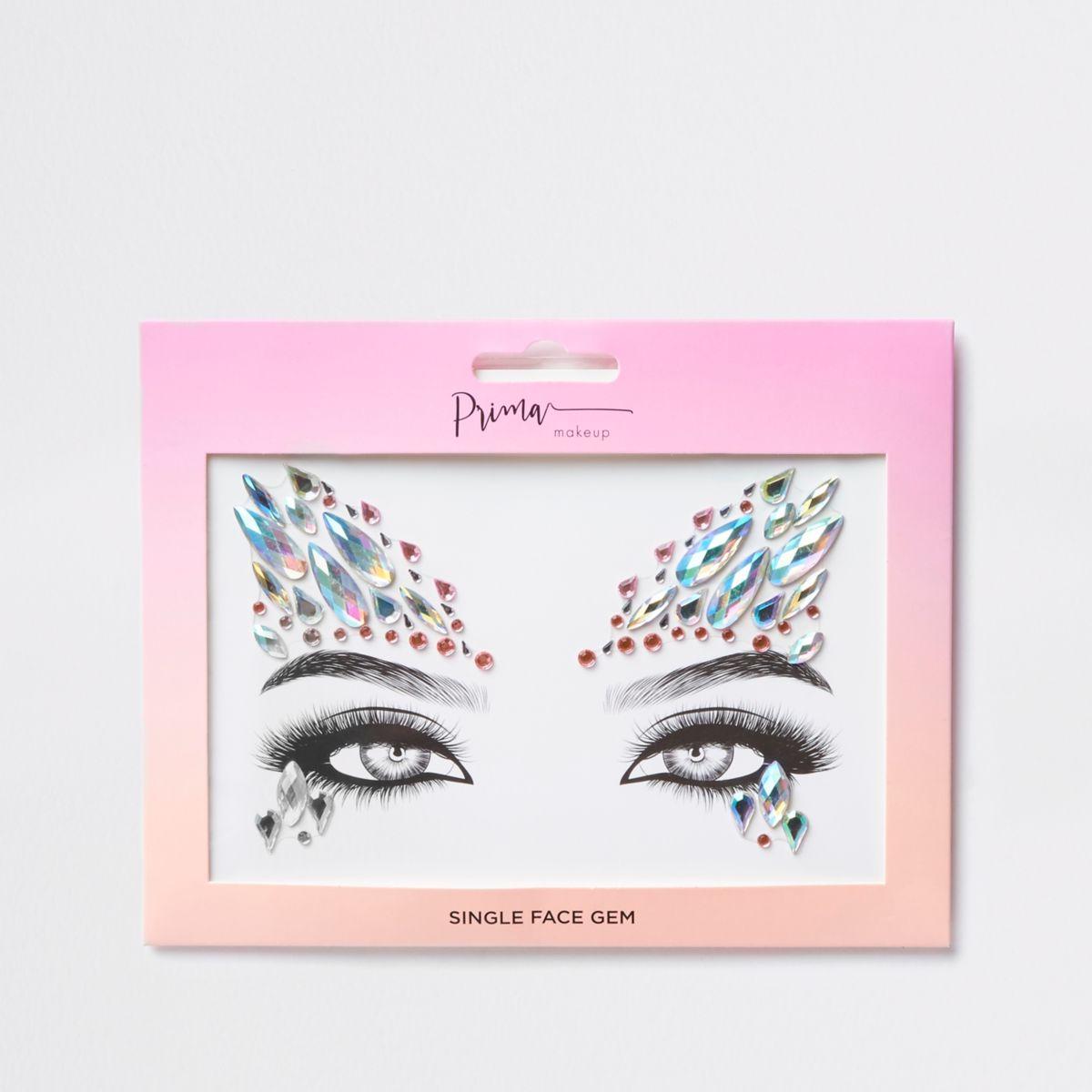 Prima pink face gem makeup