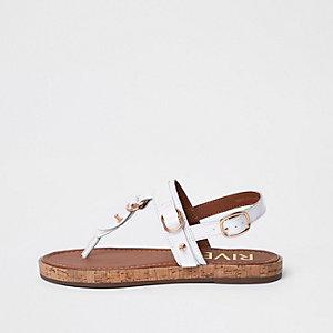 Sandales en cuir blanches