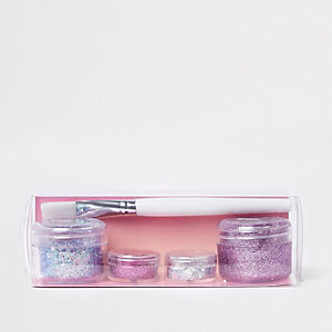 Prima pink glitter stack makeup set