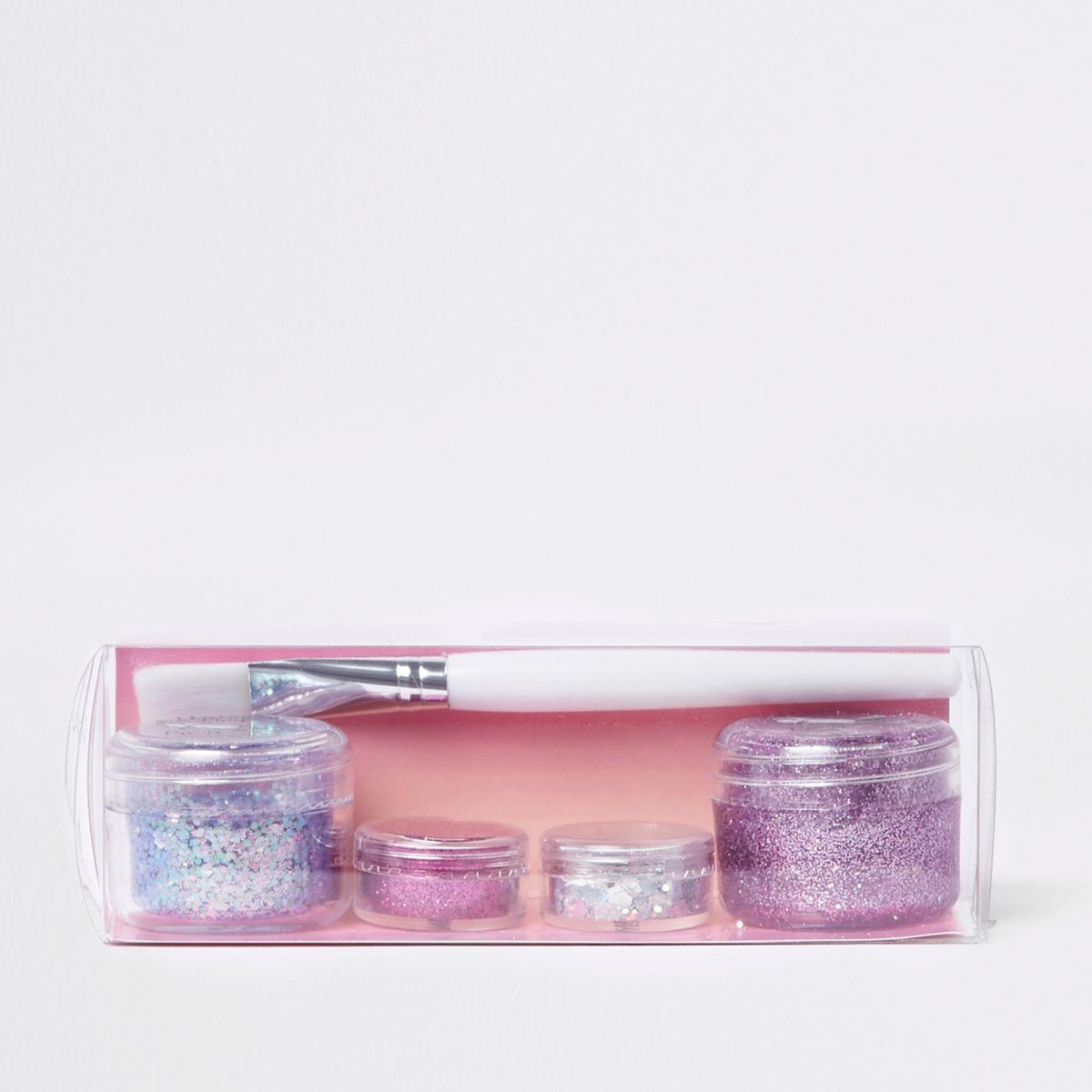 Prima pink glitter stack makeup set