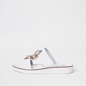 Weiße Sandalen aus Leder