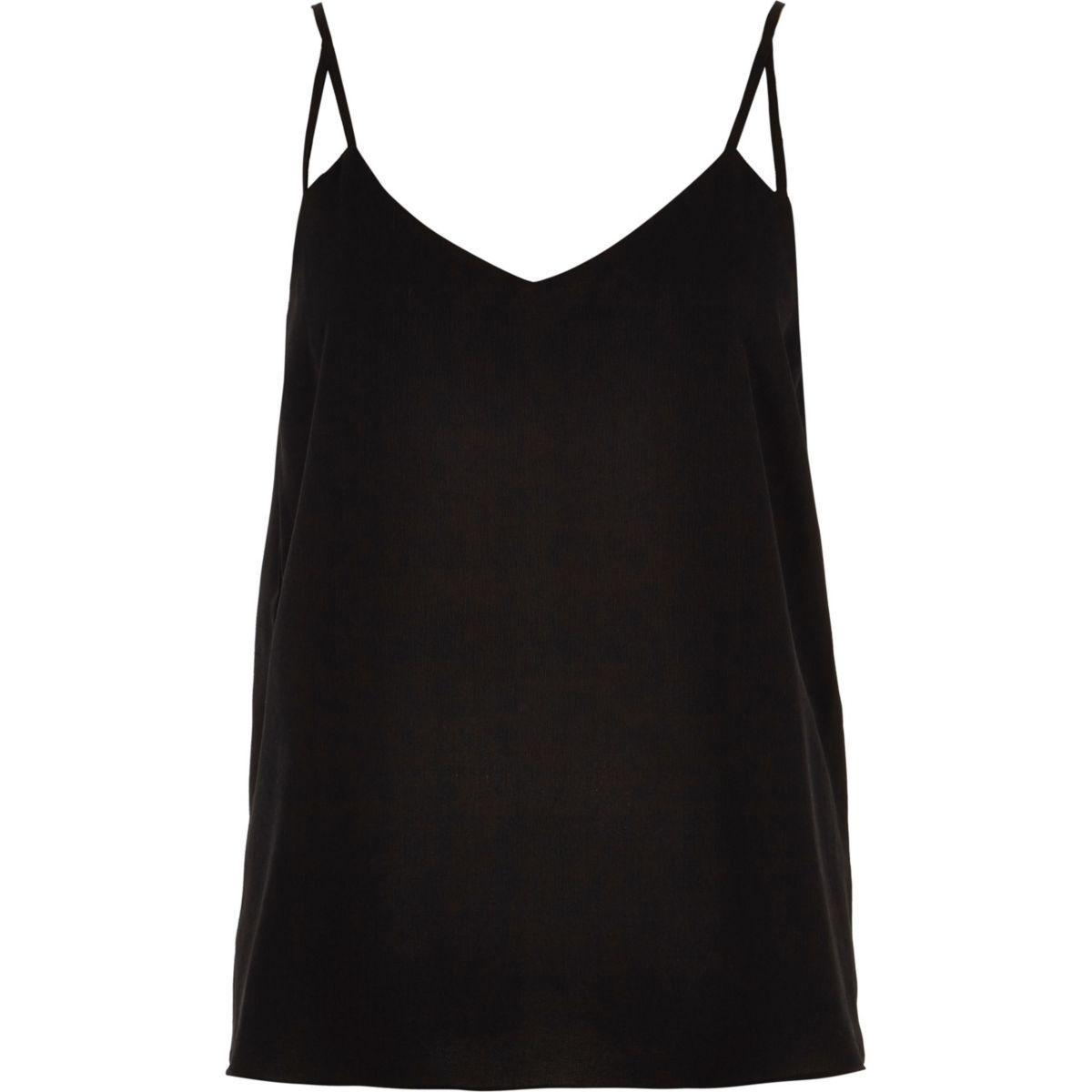 black strap Petite top split cami Apxqa78gw