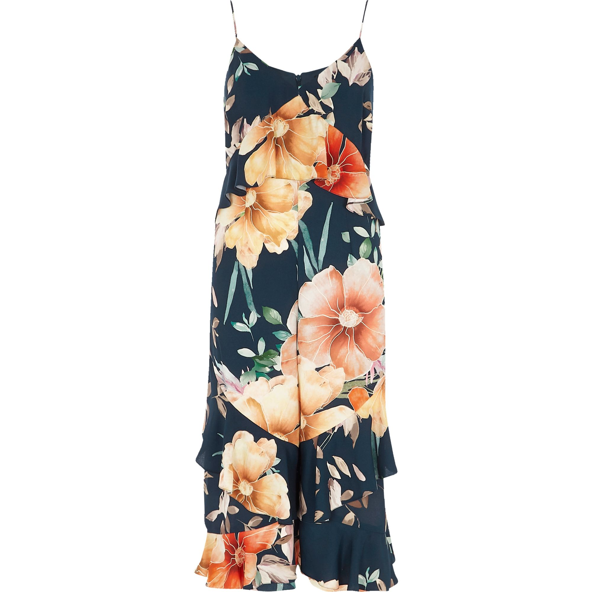 Sale Fashionable River Island Womens print tiered frill culottes Purchase Cheap Online Clearance Discounts Discount Footlocker Finishline Latest Online eNYt0r