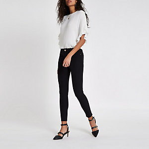 Black high waisted stretch pants