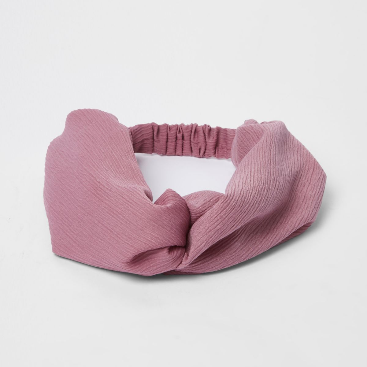 Pink wide twist headband