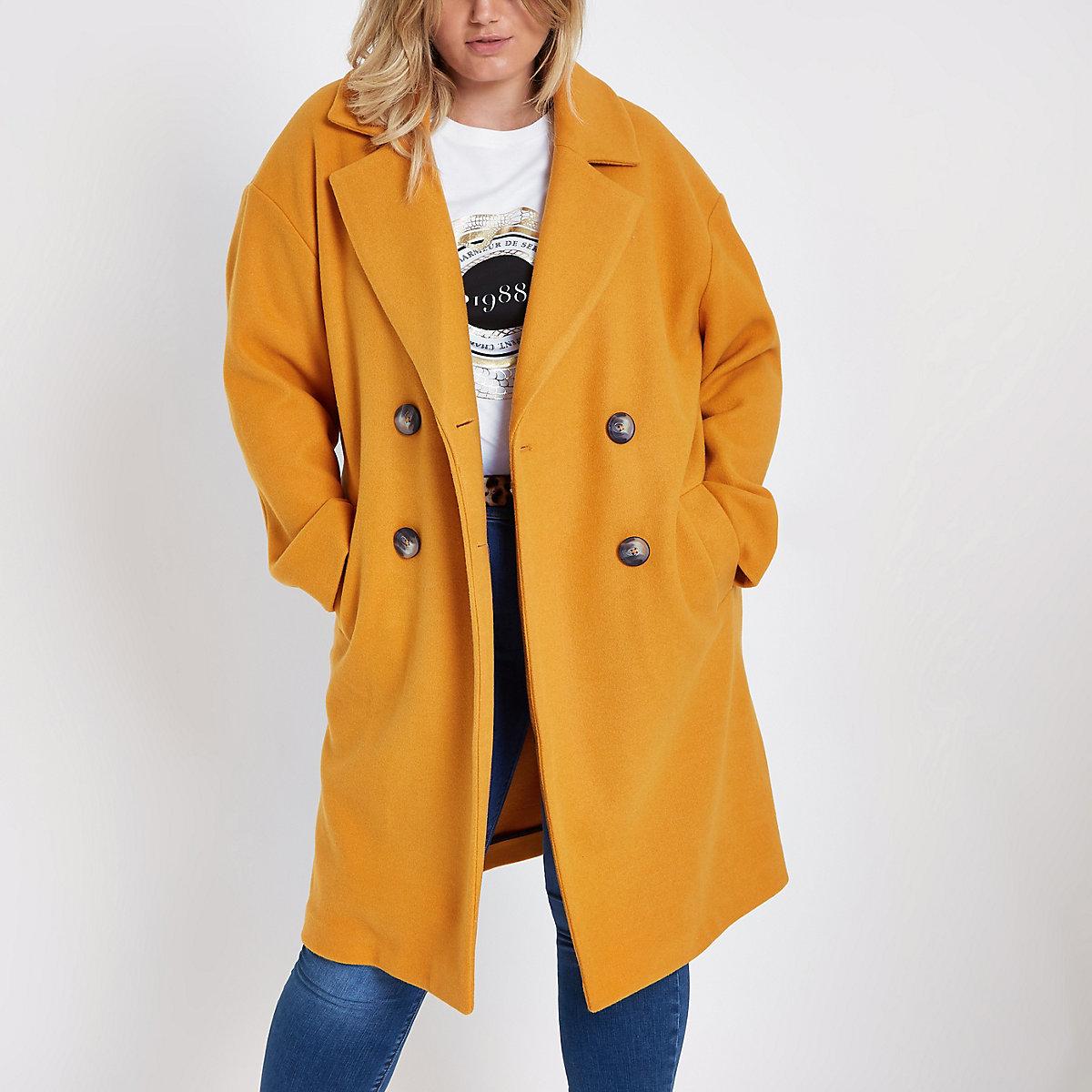 Manteaux Jaune Long Vestes Croisé Plus Manteau Femme – amp; nFqpXg