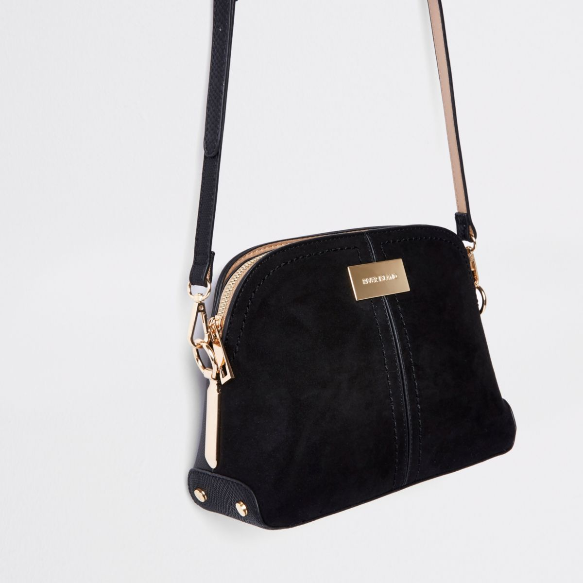 Black kettle cross body bag