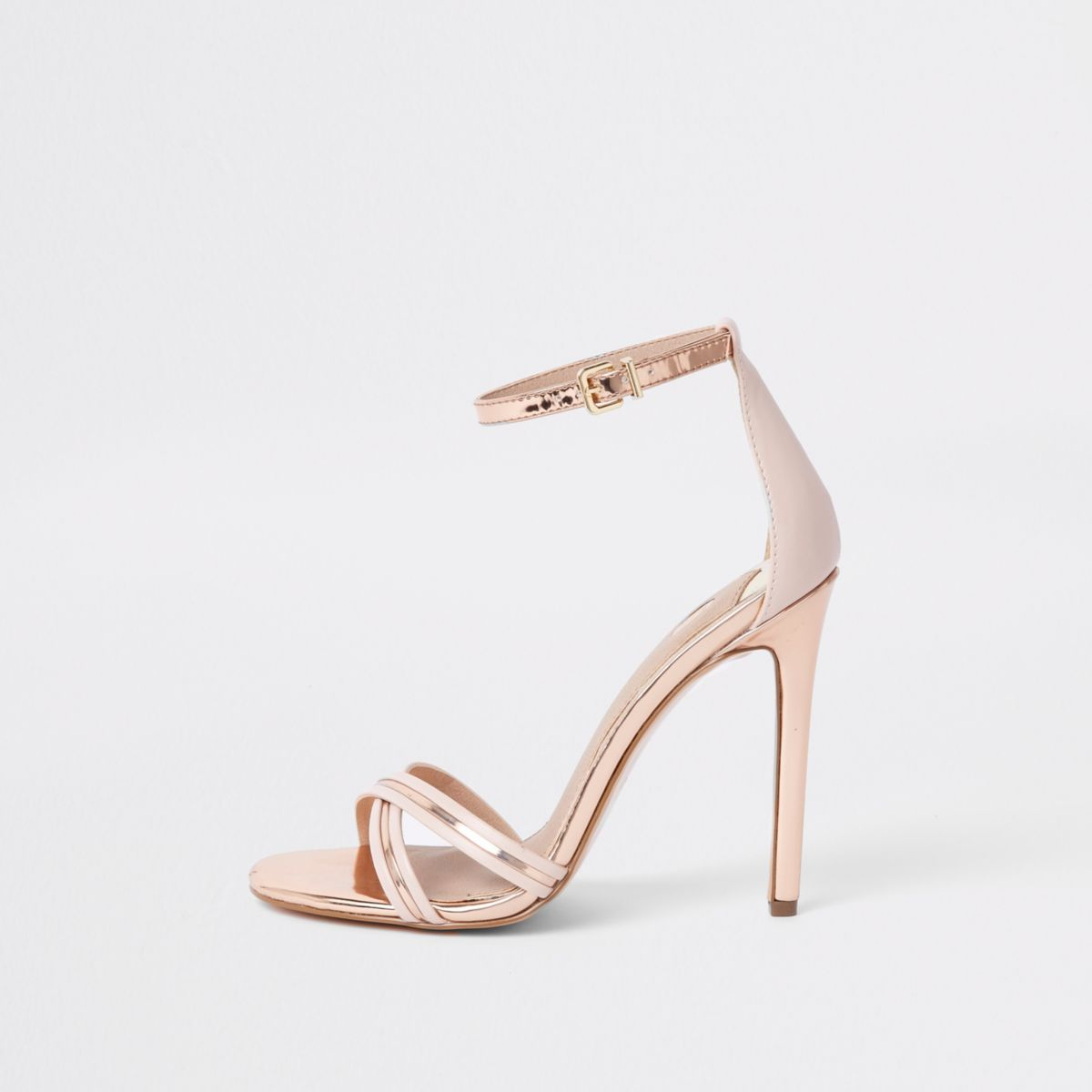 Gold metallic barely there sandals