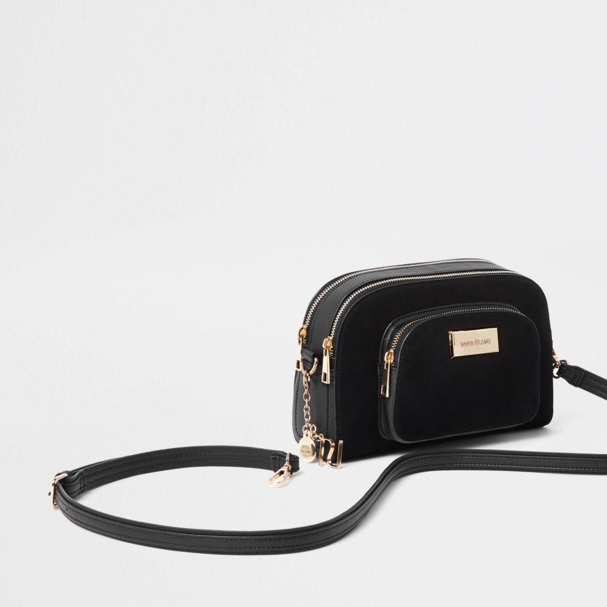 5425301661 Black curved cross body bag - Cross Body Bags - Bags   Purses - women