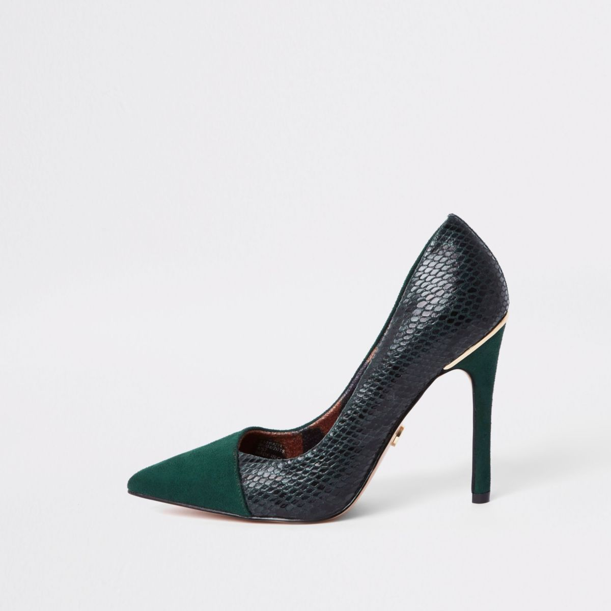 River Island Green Court Shoes
