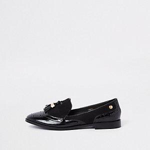Zwarte lakleren schoenen met kwastje
