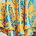 Orange jacquard flute hem pencil skirt